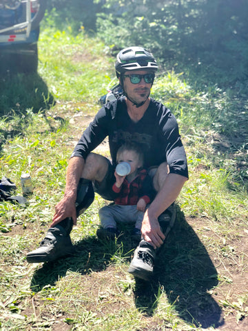 Baby Hand Off - Mountain Biking and camping advnetures with kids