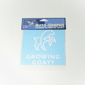 "Growing Goats 6"" x 6"" Single Decal"