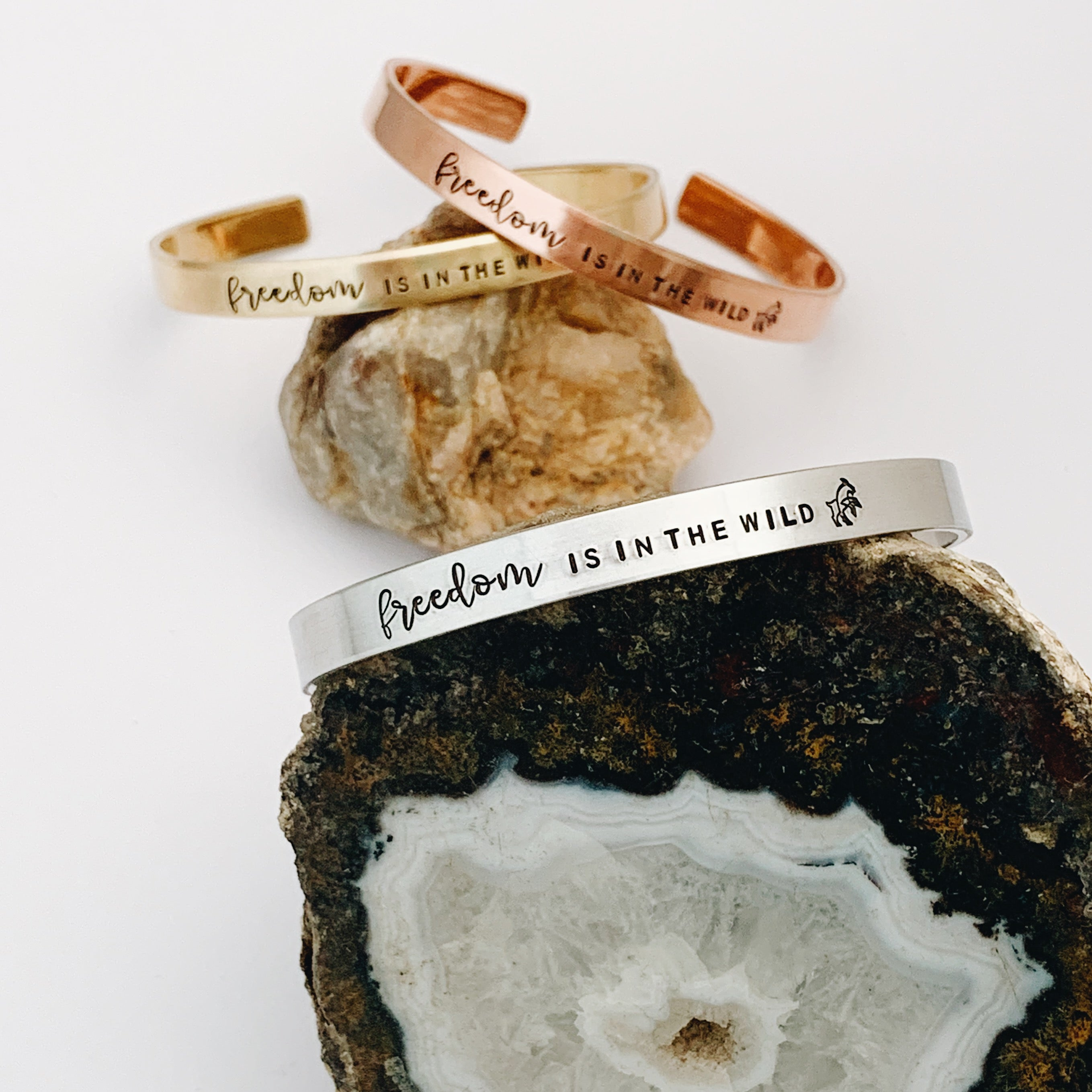 "FREEDOM is in the WILD -- Custom 1/4"" Cuff"