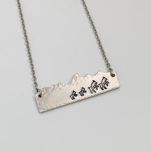 Mountain Family Herd Necklace