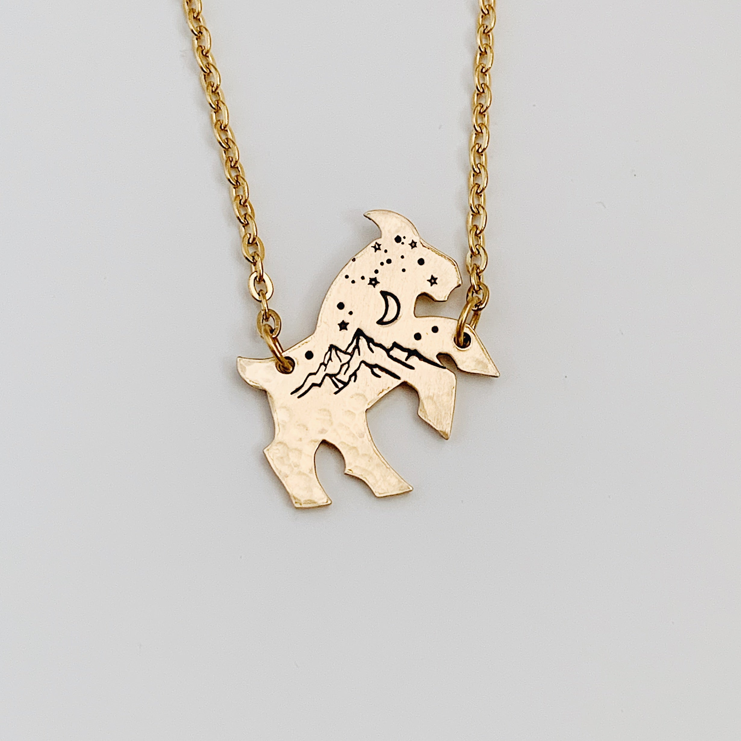 Your GOAT with Mountains & Sky Necklace