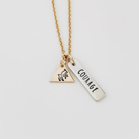 """Courage"" Double Pendant Necklace"