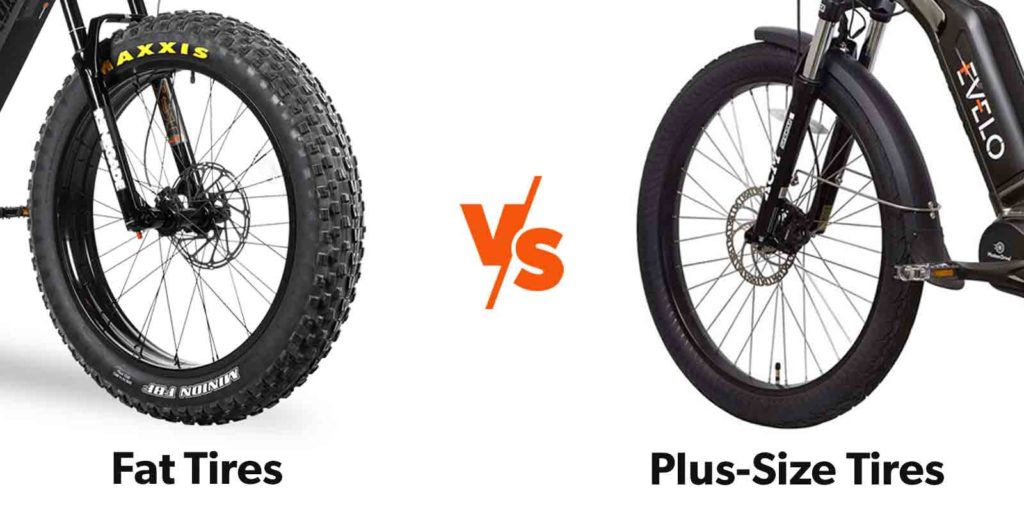 Fat Tires Vs. Plus Size Tires on eBikes