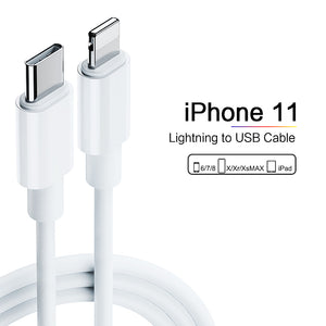Apple iPhone 11 Pro Max 18W USB‑C Adapter With USB-C to Lightning Cable