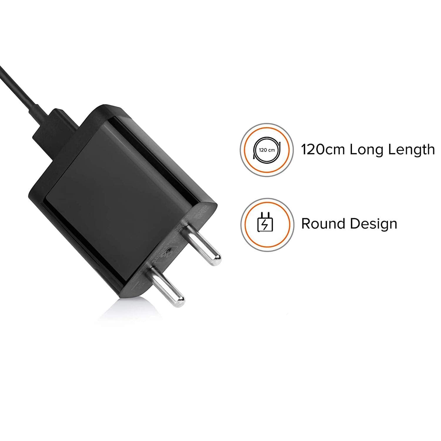 Redmi 9 Prime Fast 10W 2 Amp Mobile Charger With Type-C Cable Black