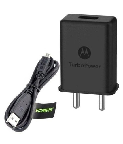 Motorola E4 Plus 3Amp Turbo charger With 1.2 Mt Data & Sync Cable-chargingcable.in