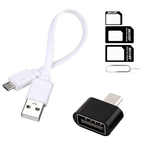 3 in 1 Combo-Micro Power Bank Cable, OTG And SIM Adapter All Mobile Accessories Combo Kits