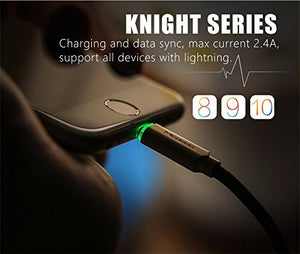 Mcdodo For Apple iPhone Led Lighting Auto Power Off Data Charging Cable (Black)