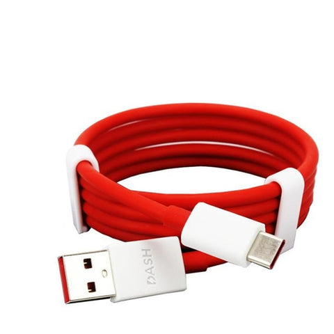 Image of Oneplus 6T Dash Type C Cable Charging & Data Sync Cable-Red-100CM-chargingcable.in