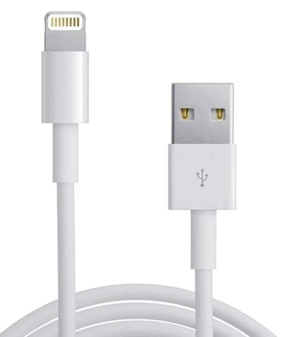 Image of Lightning To Usb Charge and Data Sync Lightning Cable for Apple iPhone 5S Devices- 1 M White-chargingcable.in