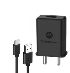 Motorola G6 Plus 3Amp Type C Turbo charger With 1.2 Mt Data & Sync Cable-chargingcable.in