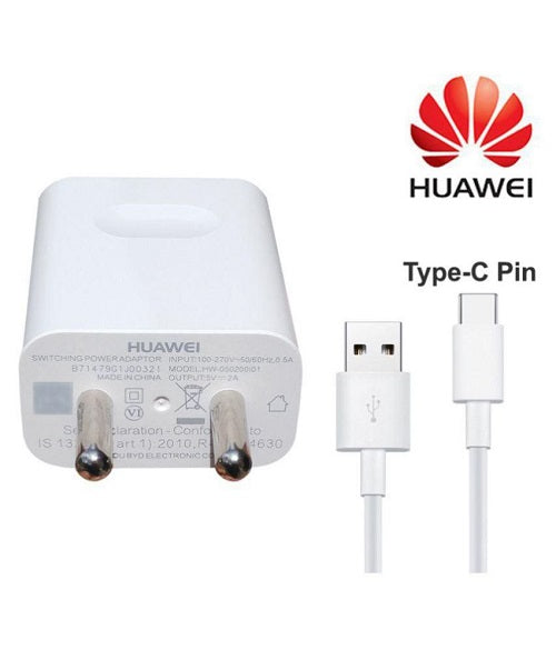 Huawei honor Mate 20 Type C Fast Charger With 1.2 Mt Cable (White)-chargingcable.in