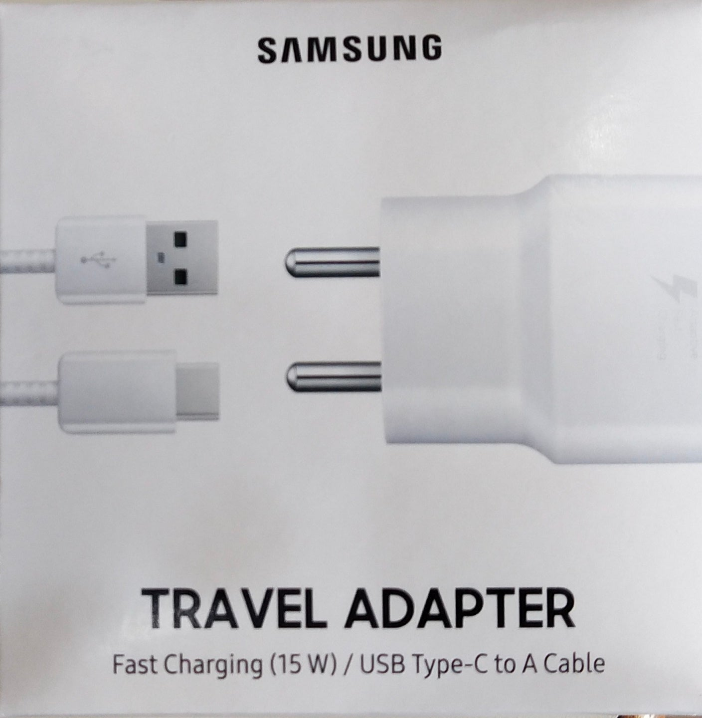 Samsung Galaxy S10 Plus 15W Type C Adaptive Fast Mobile Charger With 1 Mt Cable