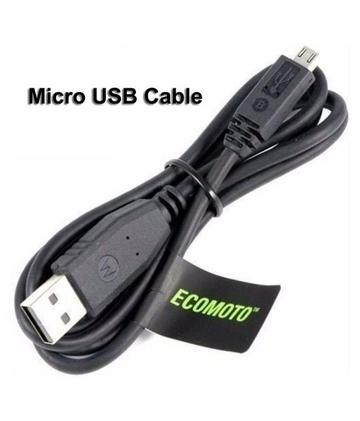 Image of Motorola E3 Power Turbo Charge And Data Sync 1.2 Mt Cable Black-chargingcable.in