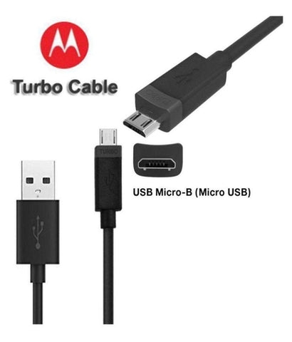 Motorola G5 Plus Turbo Charge And Data Sync 1.2 Mt Cable Black-chargingcable.in
