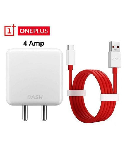 Oneplus 3T 4 Amp Dash Mobile Charger With Dash Type C Cable Red