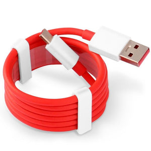 Type C Data Cable Charge & Sync Cable for One Plus Devices- 1M-Red & White-chargingcable.in