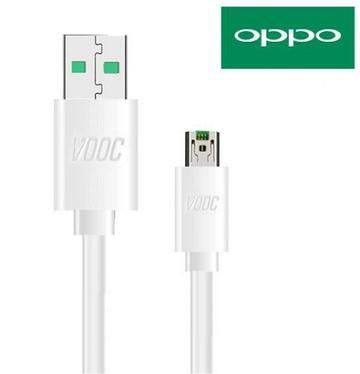 Oppo A7 VOOC Charge And Data Sync Cable White-chargingcable.in