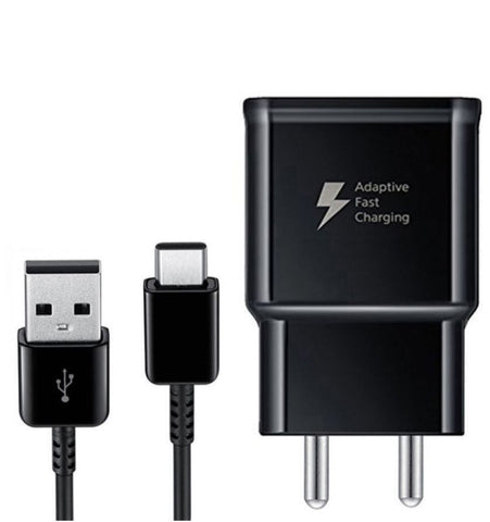 Image of Samsung Galaxy A20 Type C Adaptive Fast Mobile Charger With Cable Black-chargingcable.in