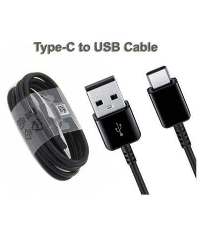 Image of Samsung Galaxy M21 Type C Adaptive Fast Mobile Charger With Cable Black-chargingcable.in