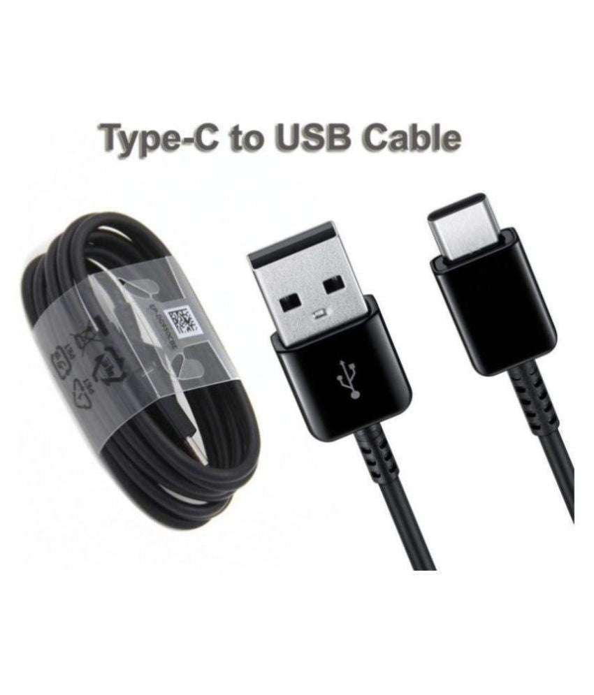 Samsung Galaxy A40s Type C Adaptive Fast Mobile Charger With Cable Black-chargingcable.in