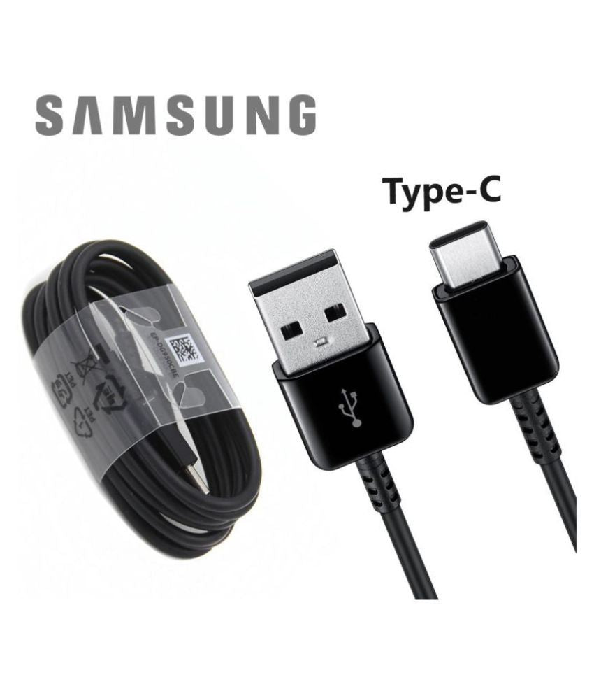 Samsung Galaxy Note 8 Type C Charge And Sync Cable-1M-Black-chargingcable.in