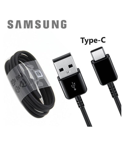 Samsung Galaxy S9 Plus Type C Charge And Sync Cable-1M-Black-chargingcable.in