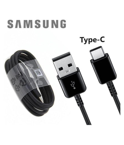 Samsung Galaxy S8 Type C Charge And Sync Cable-1M-Black-chargingcable.in