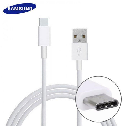 Image of Samsung Galaxy A10s Type C Cable-1M-White-chargingcable.in