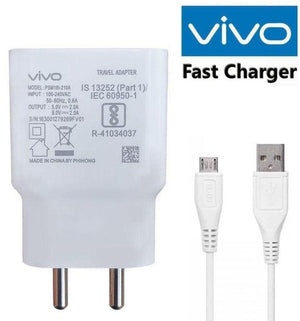 Vivo V11 Pro 2 Amp Dual Engine Fast Mobile Charger with Data Cable-chargingcable.in