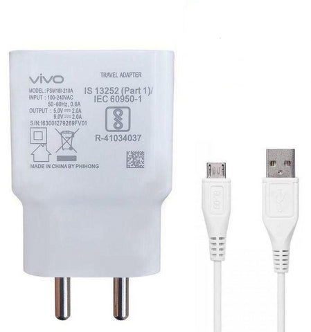 Vivo S1 2AMP Dual Engine Rapid Fast Mobile Charger with Data Cable-chargingcable.in