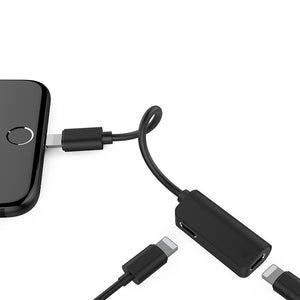 Apple Audio Adapter for iPhone 8 Plus Charging and Audio 2 in1 Dual Lightning