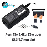 Lapcare Adapter for E1-410 E1-531 E1-571 E5-521 E5-771 19V 3.42A 65W 65 W Adapter (Power Cord Included)
