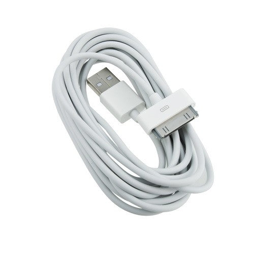 Data Cable Charge & Sync Cable for Apple iPhone 3/4/4S iPad Device White-chargingcable.in