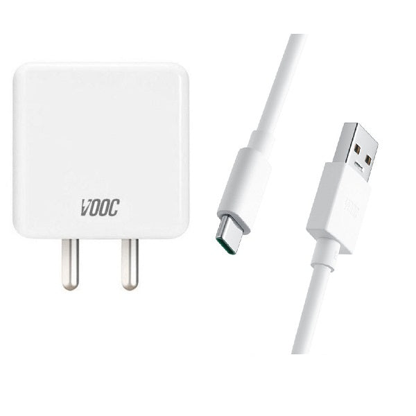 Oppo F15 4 Amp Type-C Vooc Charger With C-Type Cable-chargingcable.in