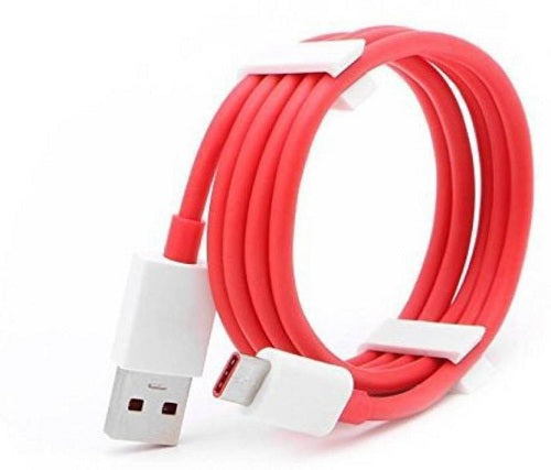 OnePlus 3T 128GB Dash Type C Cable Charging & Data Sync Cable-Red-100CM