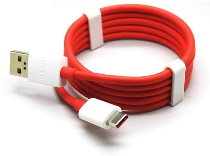 Oneplus 6T Dash Type C Cable Charging & Data Sync Cable-Red-100CM-chargingcable.in
