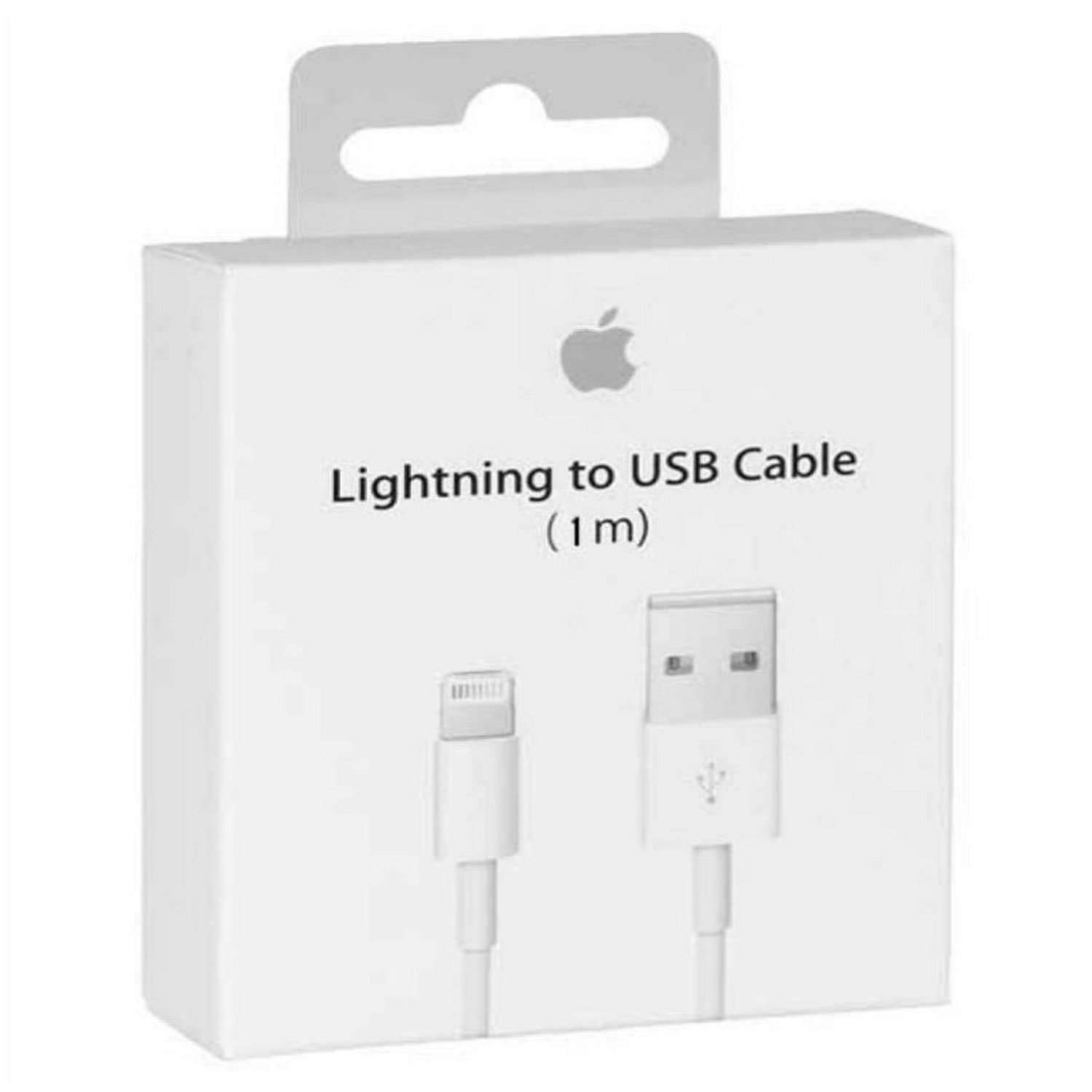 Apple iPhone X Lightning To Usb Charge and Data Sync Lightning Cable 1M White-chargingcable.in