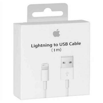Apple iPhone 6S Lightning To Usb Charge and Data Sync Lightning Cable 1M White-chargingcable.in