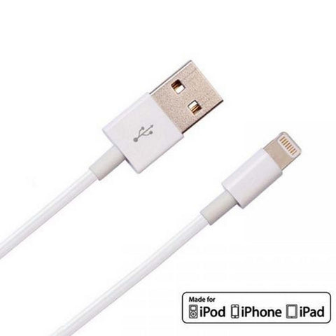 Image of Lightning To Usb Charge and Data Sync Lightning Cable for Apple iPhone 6S Devices- 1 M White-chargingcable.in