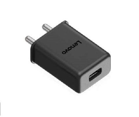Image of Lenovo K9 Note 3 Amp Mobile Charger with 1.2 Mt Fast Charging Cable Black-chargingcable.in