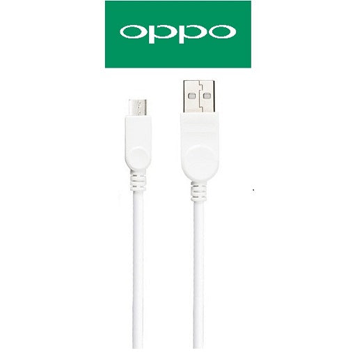 Oppo Data Cable Charge And Sync Cable Mobile Devices-1M-White-chargingcable.in