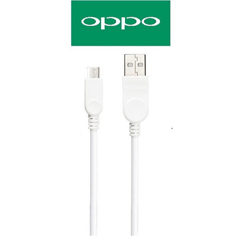Image of Oppo Data Cable Charge And Sync Cable Mobile Devices-1M-White-chargingcable.in