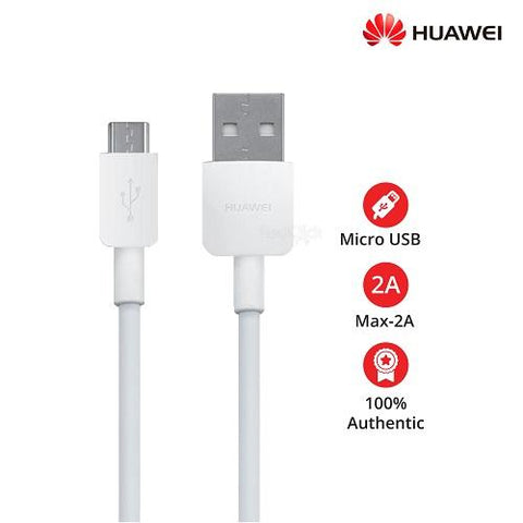 Image of Huawei Honor 7A Original Charging Cable Data Sync Cord-White-chargingcable.in