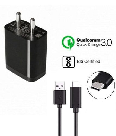 Image of XIAOMI Redmi Note 8 Pro Type C Mobile Charger Qualcomm 3 Amp Fast Charge With 1.2 Mt Cable-chargingcable.in