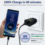 Samsung Galaxy S20 Ultra 25W Type-C To Type-C Adaptive Fast Mobile Charger With Cable White