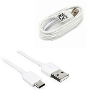 Samsung Galaxy A70 Type C Cable-1M-White-chargingcable.in