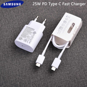 Samsung Galaxy Note 20 25W Type-C To Type-C Adaptive Fast Mobile Charger With Cable White