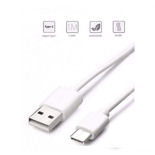 Huawei P9 Original Type C Cable Data Sync Cord-White-chargingcable.in