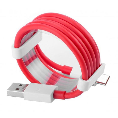 Image of Oneplus 3 Dash Type C Cable Charging & Data Sync Cable-Red-100CM-chargingcable.in
